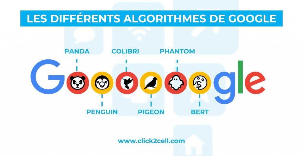 Algorithmes successifs de Google